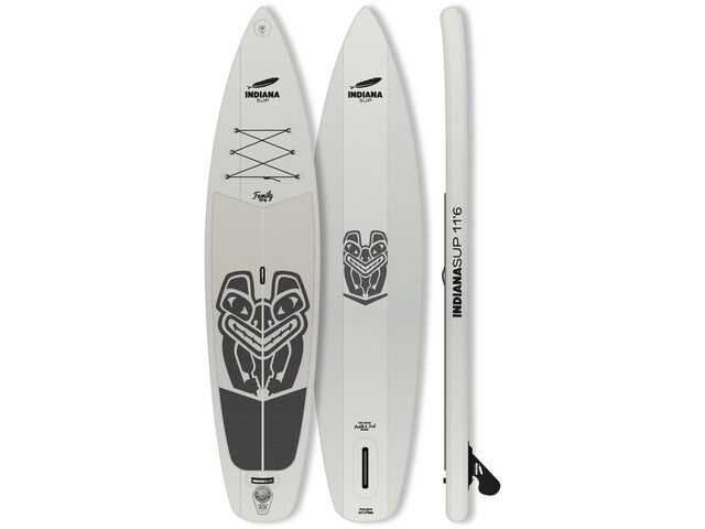 Indiana SUP 11'6 Family Pack Inflatable SUP with 3-Pieces Fibre/Composite Paddle, grey